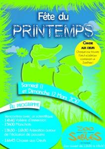 Affiche Programme FETE DU PRINTEMPS bis