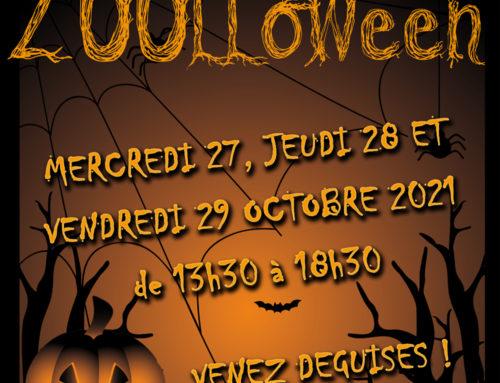 Mercredi 27, jeudi 28 et Vendredi 29 octobre 2021, c'est ZOOLLOWEEN au Zoo des Sables !